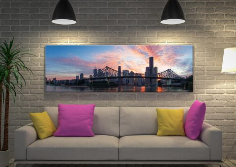 Brisbane. City Panoramic Canvas Artwork