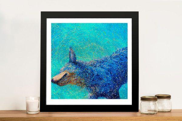 Shaking Blue Heeler by Iris Scott Canvas Wall Art