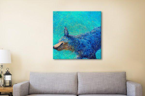 Shaking Blue Heeler Iris Scott Canvas Paintings