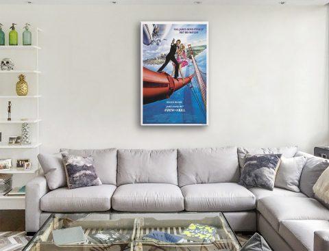 Buy Cheap James Bond Movie Wall Art Online