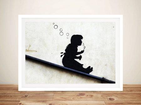 Bubble Girl Banksy Street Art