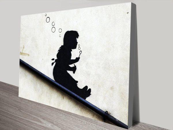Bubble Girl Banksy Graffiti Prints AU