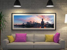 Brisbane Bridge Panoramic Wall Art