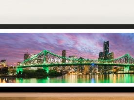 Brisbane Sundown Panoramic Framed Art