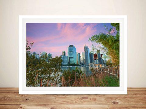 Brisbane Dusk Australian Wall Art Online