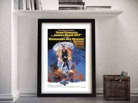 Print For The Movie Diamonds Are Forever
