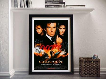 Framed Movie Poster For The Film Goldeneye
