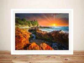 Gold Sun Sunset Canvas Art Print