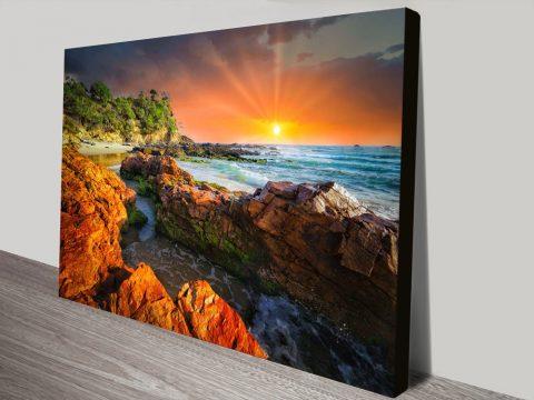 Gold Sun Australian Coast Canvas Art Online