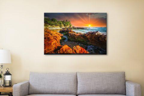 Gold Sun Cheap Australian Canvas Prints Online