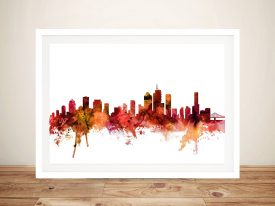 Watercolour Print of Brisbane's Skyline
