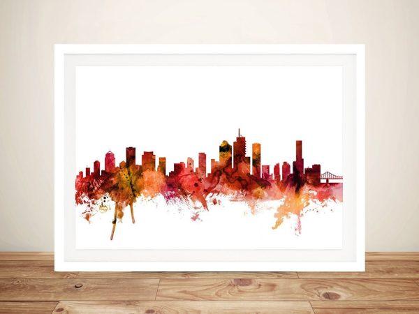 Watercolour Print of Brisbane's Skyline