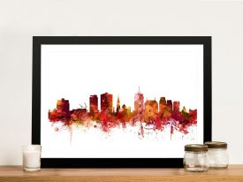 Christchurch Skyline Framed Wall Art
