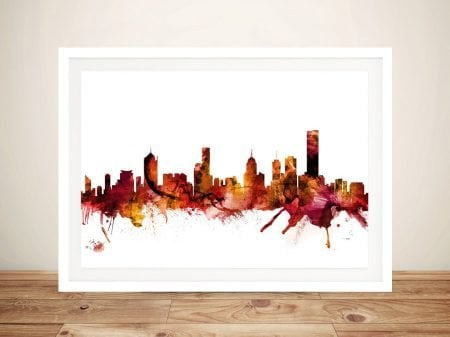 Wall Art Featuring Melbourne's Skyline