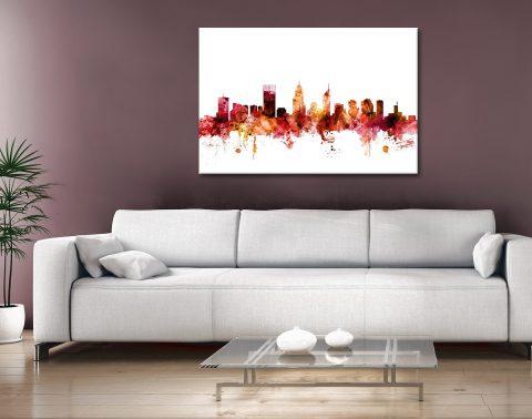 Buy Perth Skyline Watercolour Art Online