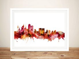 Sydney Skyline Watercolour Print