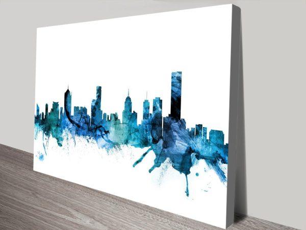 Melbourne Skyline Michael Tompsett Artwork