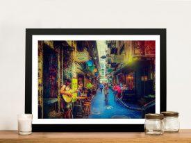 Degraves Street Noel Buttler Framed Print