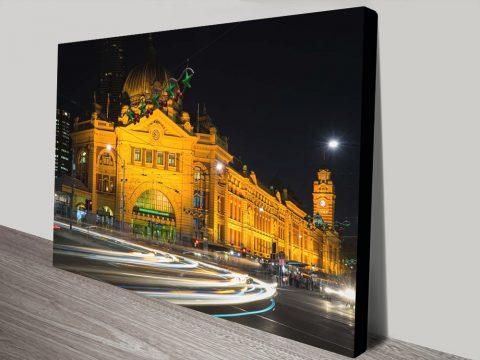 Flinders Street Station Stretched Canvas Print