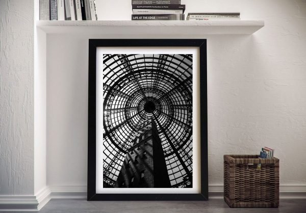 Coop's Shot Tower Framed Canvas Print