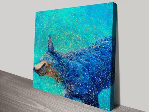 Shaking Blue Heeler Iris Scott Canvas Online