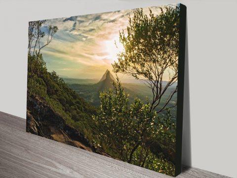 Noel Buttler Glass House Mountains Canvas Print