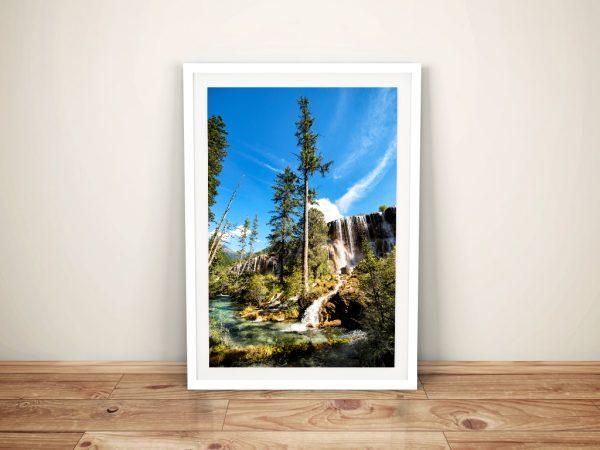 Buy Waterfalls in the Jiuzhaigou Framed Art
