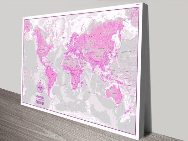 Buy Personalised Push Pin MapsArtwork Australia