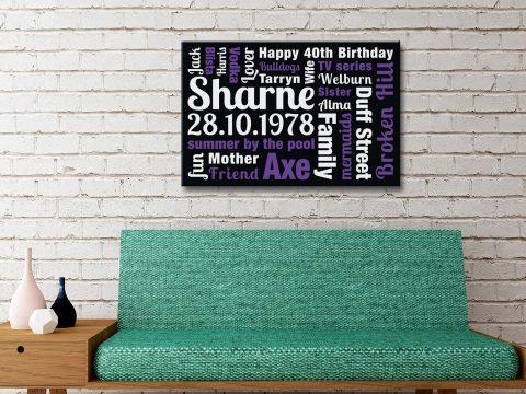 Buy Custom Word Art Perfect Gift Ideas AU