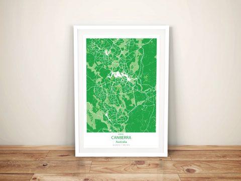 Canberra City Street Map Artwork