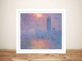 Effect of Sunlight in Fog Classic Art on Canvas