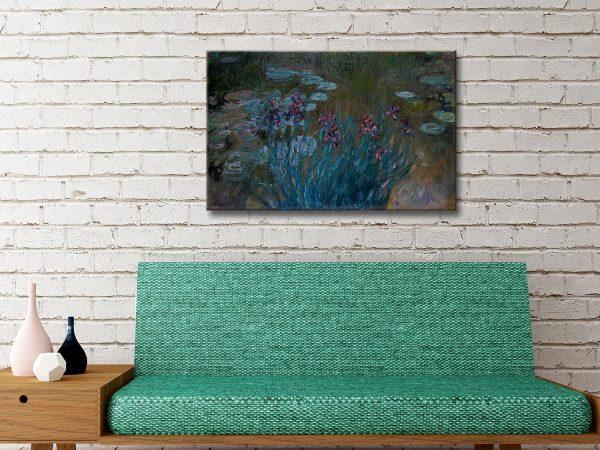 Buy Irises and Water Lilies Monet Prints AU