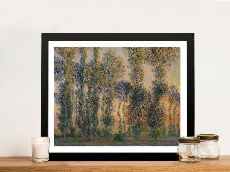 Buy Poplars at Giverny Sunrise Framed Art