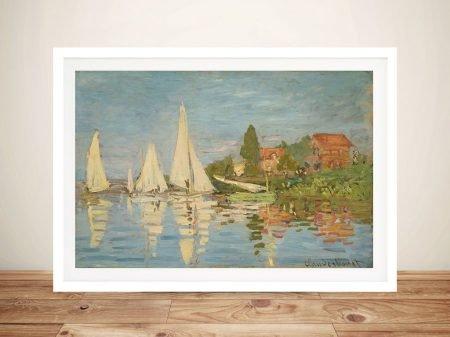 Regatta at Argenteuil Framed Classic Art