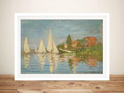 Regatta at Argenteuil Framed Classic Art