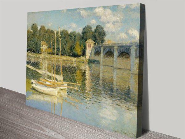 The Bridge at Argenteuil Classic Canvas Prints AU