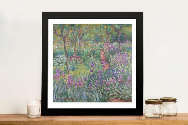 The Iris Garden at Giverny Monet Wall Art