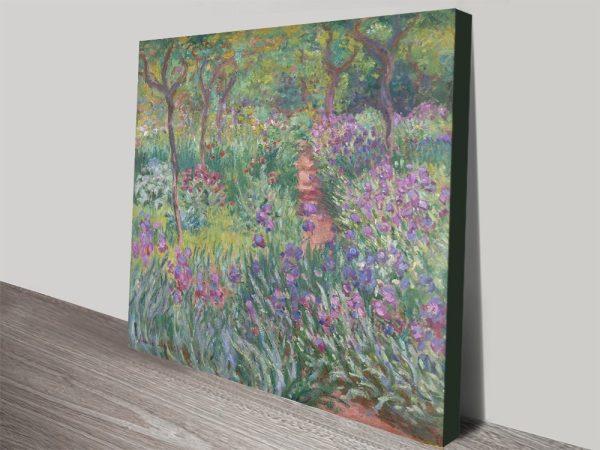 The Iris Garden in Giverny Buy Art Online