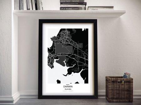 Buy Darwin City Street Map Canvas Art