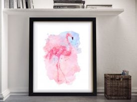 Buy Watercolour Flamingo Canvas Artwork