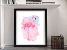 Buy Watercolour Flamingo Canvas Artwork