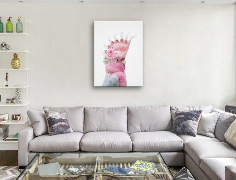 Buy Floral Galah Framed Art Cheap Online