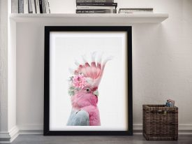 Buy A Beautiful Framed Print of a Floral Galah