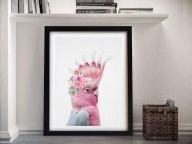 Buy A Beautiful Framed Print of a Floral Galah