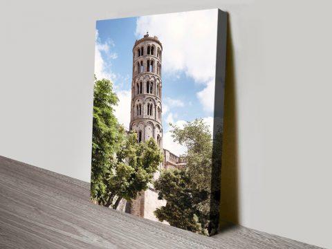 Tour Fenestrelle to Uzès Framed Wall Art Online