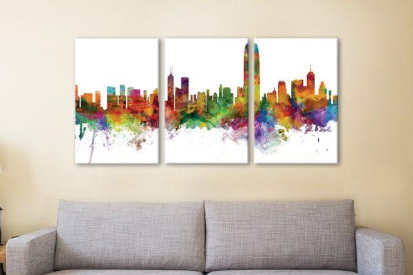 Buy Multicoloured Hong Kong Skyline Art Online