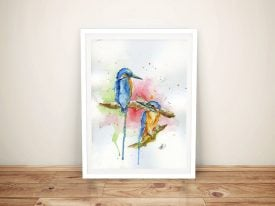 Buy Framed Canvas Art Featuring Kingfishers