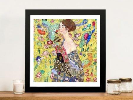 Buy Lady With Fan Art Nouveau Wall Art