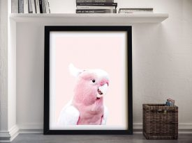 Buy An Adorable Pink Cockatoo Framed Print