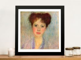 Portrait of Gertha Felsövanyi Framed Print